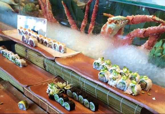 Barra de sushi, restaurante Zuma