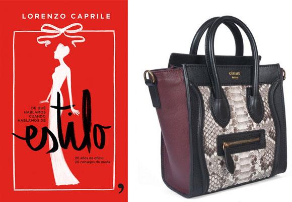Sobre su mesa, el libro de Lorenzo Caprile y el bolso Céline
