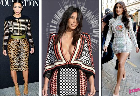 Kim Kardashian vestida de Balmain