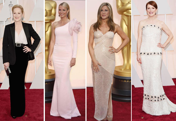 Meryl Streep, Wineth Paltrow, Jennifer Aniston y Juliane Moore