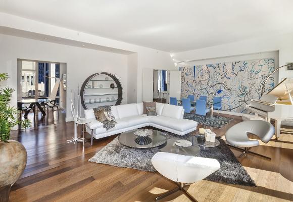 New York Residence Penthouse Living Room