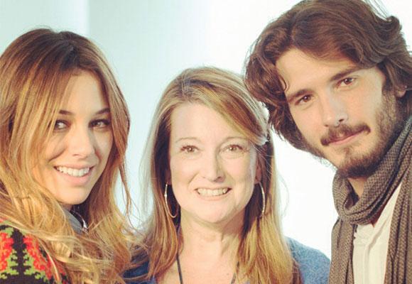 Blanca Suárez y Yon González junto a nuestra compañera Amalia Enríquez