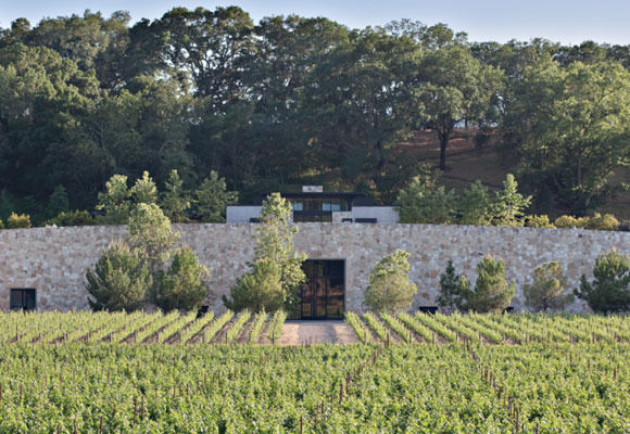 the Quintessa winery building designed by Walker Warner Architects.