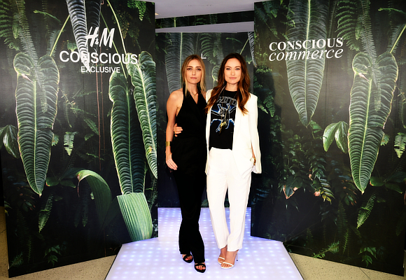 Barbara Burchfield of Conscious Commerce (L) and actress Founder of Conscious Commerce Olivia Wilde