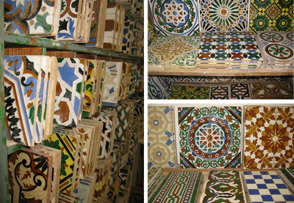 Diferent types of azulejos.