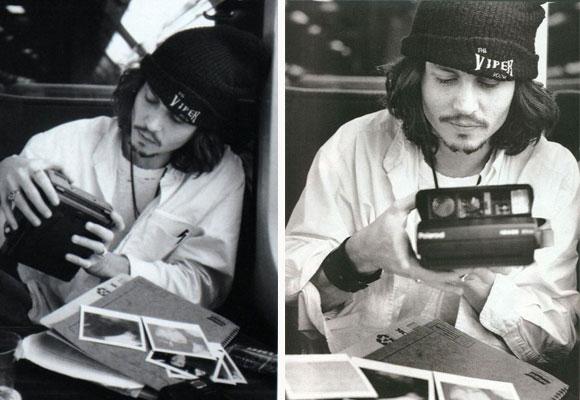 Johnny Deep también tiene una Polaroid