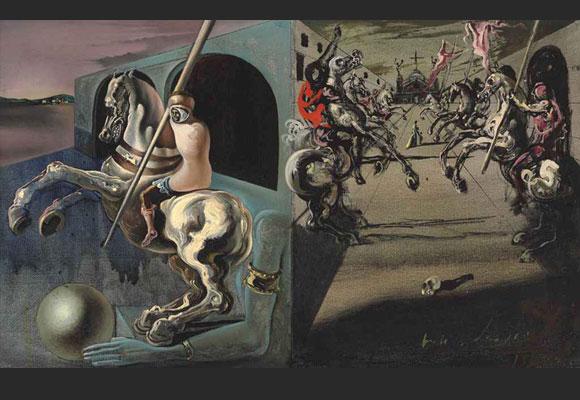 Chevaliers on Parade by Salvador Dali que DiCaprio adquirió por