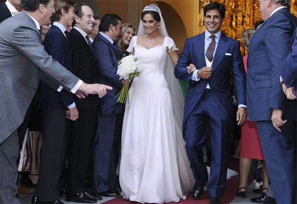 Fran Rivera en su boda con Lourdes Montes