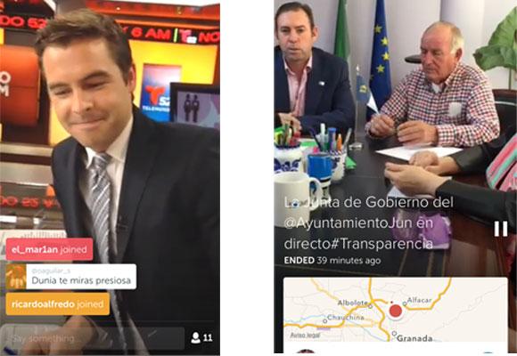 Emisión en directo de Telemundo y la Junta de la Alcaldía de Jun (Granada)