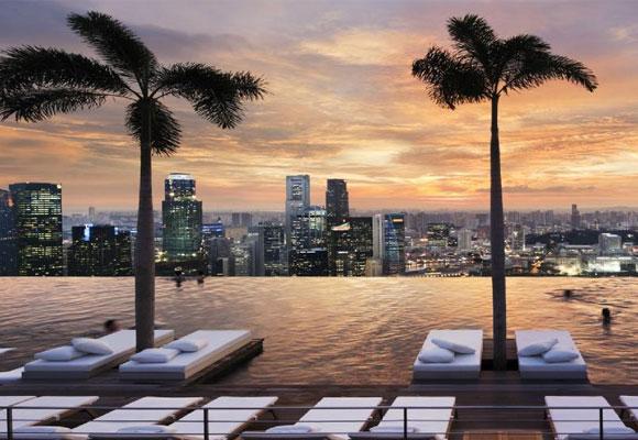 Vistas desde la Piscina del Marina Bay Sands. Foto: tripadvisor