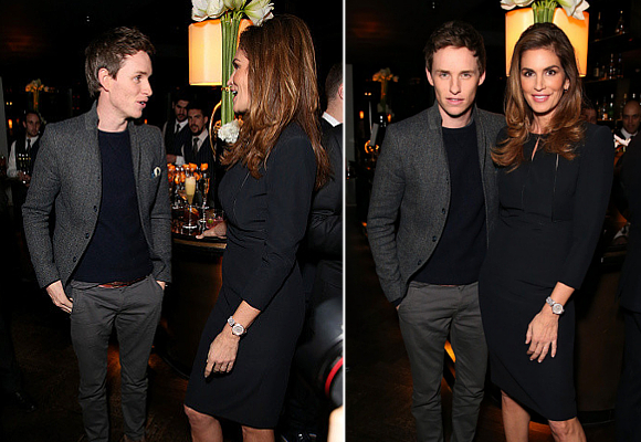 Eddie Redmayne Cindy Crawford