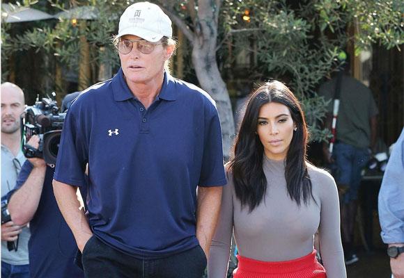 Bruce Jenner y su hija Kim Kardashian. Foto: USMagazine