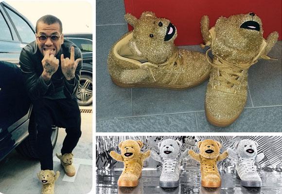Dani Alves y sus zapatillas de osos