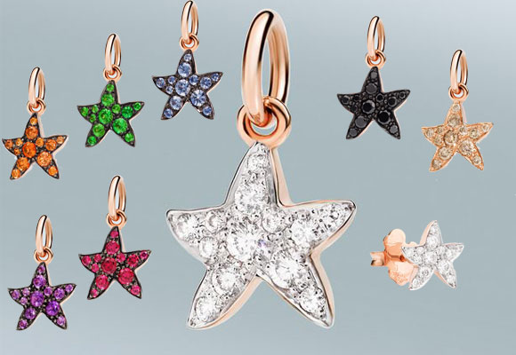 Estrellas de mar con diamantes y piedras preciosas, Dodo. Haz clic para comprar