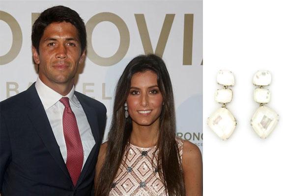 Fernando Verdasco y Ana Boyer, con pendientes de CooLook. Haz clic para comprarlos