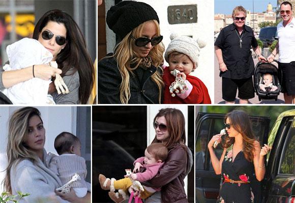 La jirafa Sophie es la preferida de los hijos de celebrities como