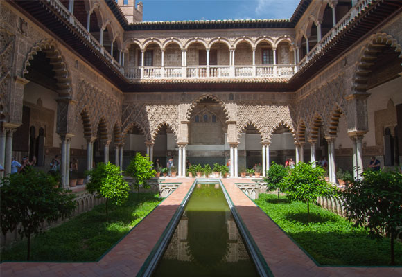 Patio del Alcázar de Sevilla. Foto: LD