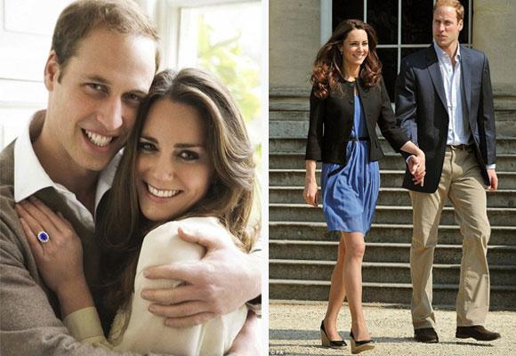 Kate con camisa de y vestido de Zara el día después de su boda. Fotos: Mario Testino y dailymail