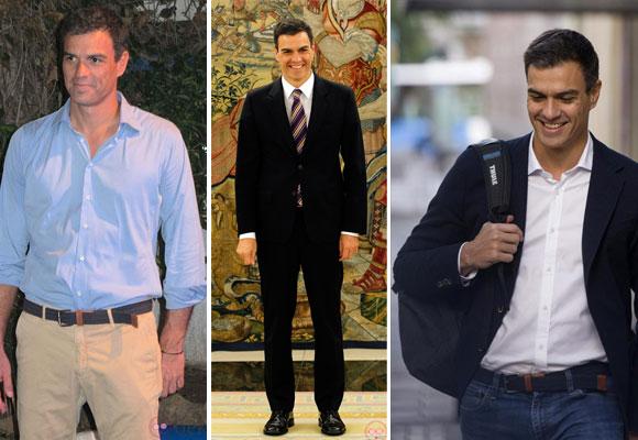 Pedro Sánchez con distintos looks