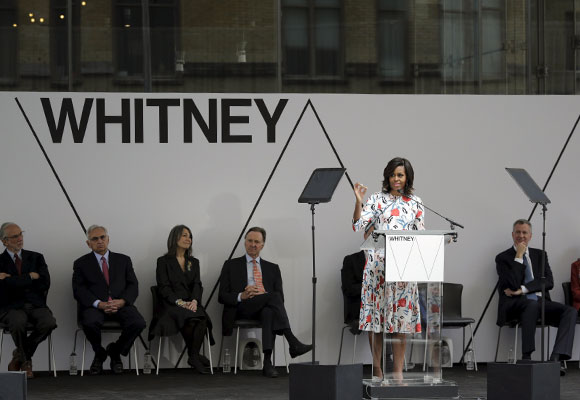 Inauguración del Museo Whitney por parte de Michelle Obama