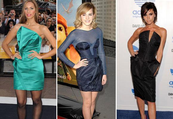 Leona Lewis, Emma Watson y Victoria Beckham con modelos de William Tempest
