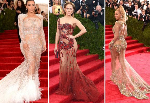 Kim Kardashian, Jennifer López y Beyoncé en la gala MET de este año