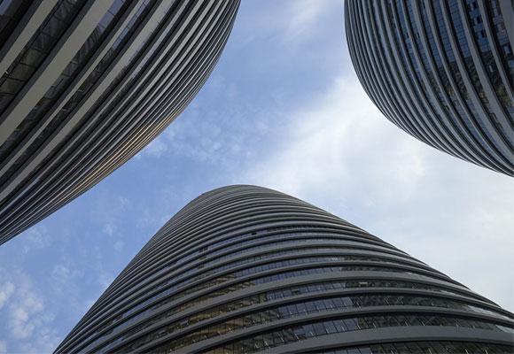 Vista desde abajo de las tres torres