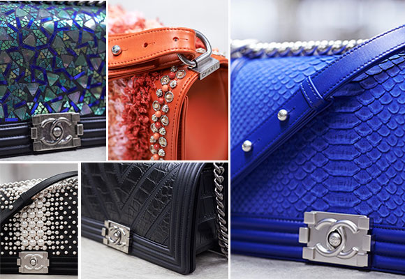 Detalles de bolsos Boy Novelties, Chanel.