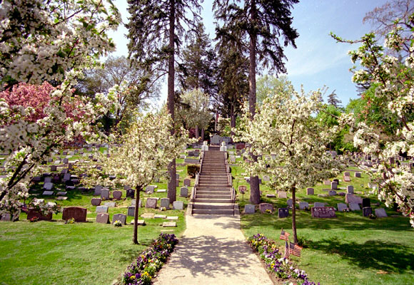 Vista del cementerio de mascotas de Hartsdale