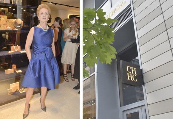 Carolina Herrera durante la inauguración de su última boutique e imagen del espacio en WDC