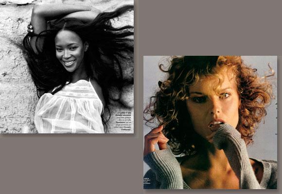 Naomi Campbell y Eva Herzigova by David Mallett