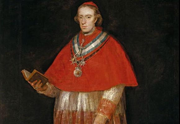 El cardenal don Luis María de Borbón y Vallabriga, Francisco de Goya