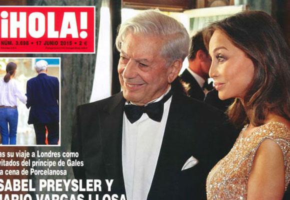 Isabel Preysler ha sido fotografiada con Mario Vargas Llosa. Foto: ¡Hola!