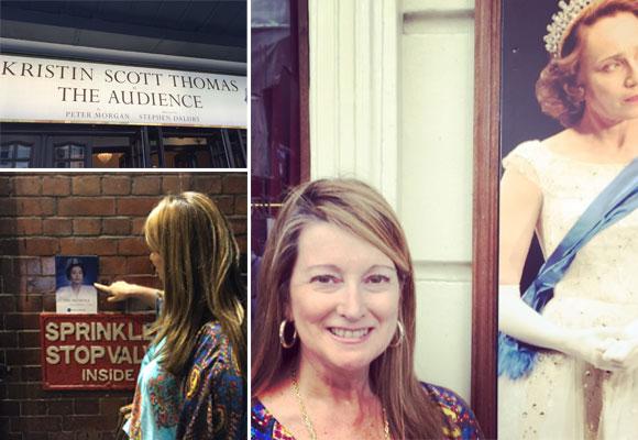 Nuestra colaboradora Amalia Enríquez en el teatro Apollo de Londres