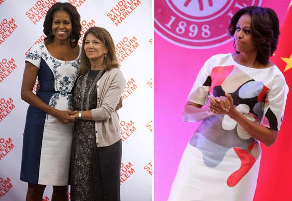 Michelle Obama con diseños de CH en