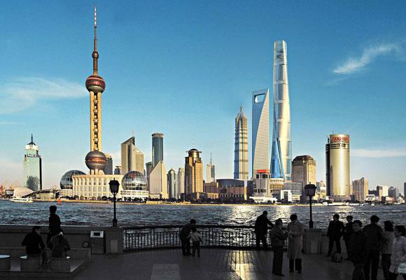 La Shangai Tower integrada en el skyline de la ciudad