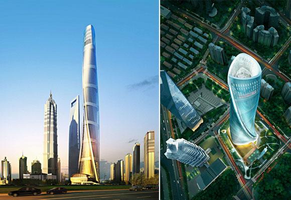 Shangai Tower, distintas vistas