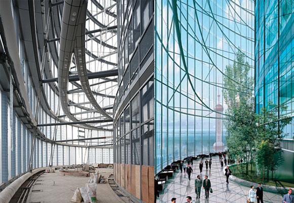 Aspecto interior de la Shangai Tower