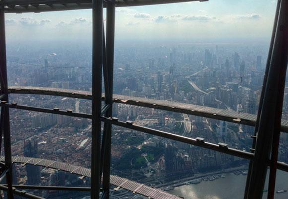 Vistas desde la Shangai Tower