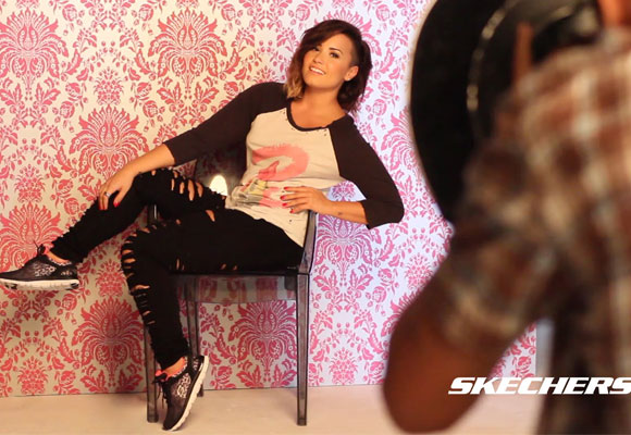 Demi Lovato para Skechers