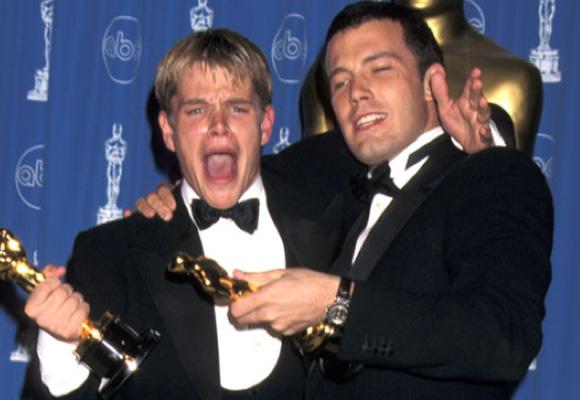 Damon y Affleck cuando consiguieron el Oscar