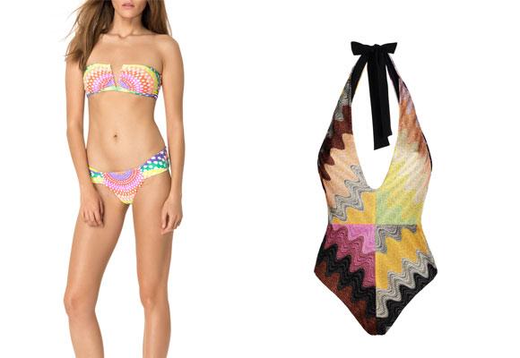 126ca800a Bikini Mara Hoffman estampado con escote en V y bañador Missoni. Haz clic  para comprar