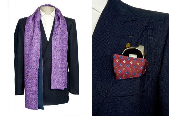 Pañuelo y portagafas de seda. Haz clic para comprar
