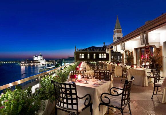 Danieli Hotel Venice, terraza nocturna