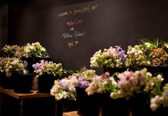 Cada diseñador tiene la libertad de escoger las flores y el diseño a realizar en las Master Classes. Fotografía de FSNY.