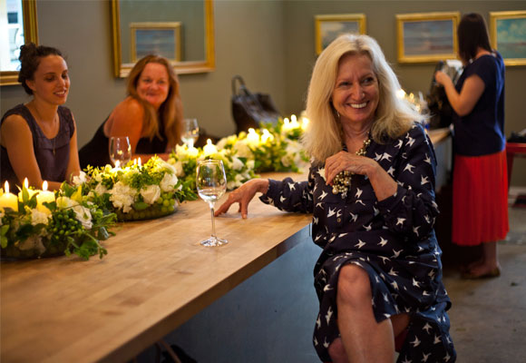 Eileen Johnson, la fundadora y directora creativa del FSNY. Además es autora de tres libros sobre arte floral. Fotografía de FSNY.