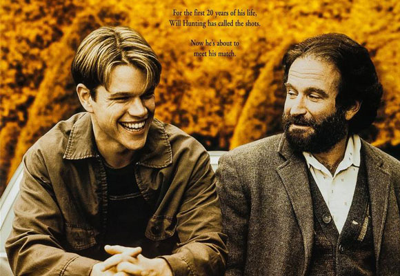 Matt Damon y Robin Williams en 'El indomable Will Hunting'