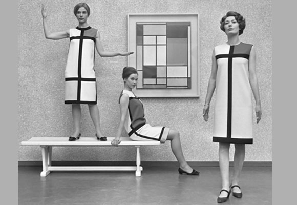 The Mondrian collection of Yves Saint Laurent. Foto: wikipedia