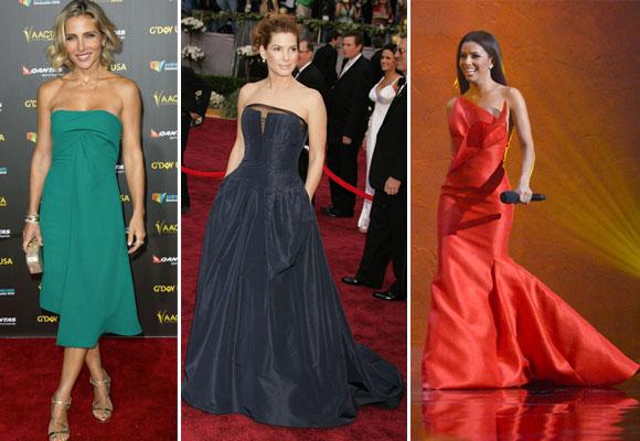 Elsa Pataky, Sandra Bullock y Eva Longoria con diseños de Ángel Sánchez