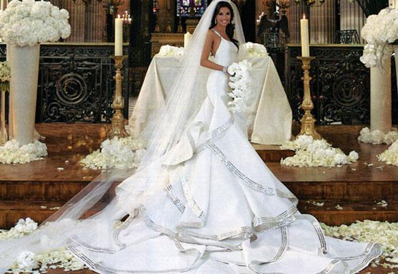 Eva Longoria vestida de Ángel Sánchez